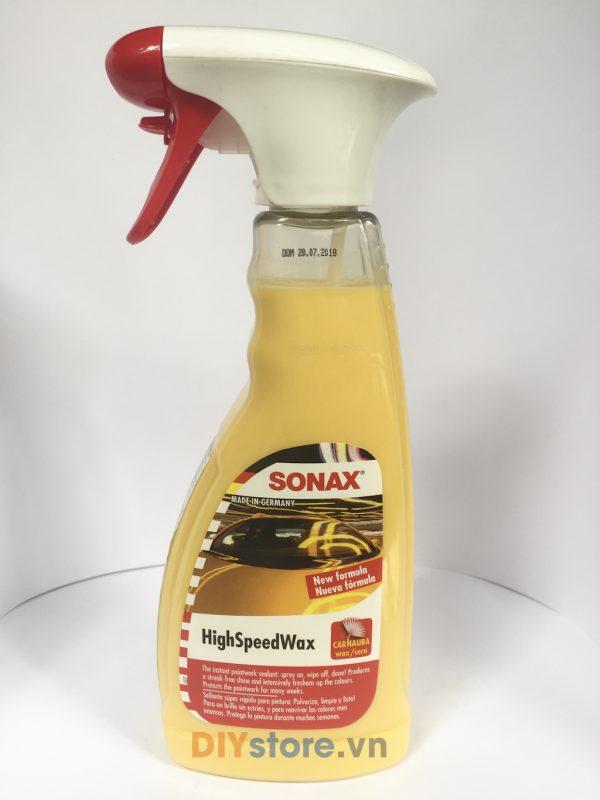 SONAX High Speed Wax - Dung dịch làm bóng và bảo vệ sơn xe (dùng khi bề mặt còn ướt), 500ml
