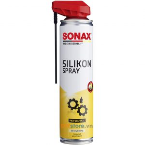 SONAX Silikon Spray - Bình xịt bôi trơn bảo dưỡng nhựa, cao su, 400ml