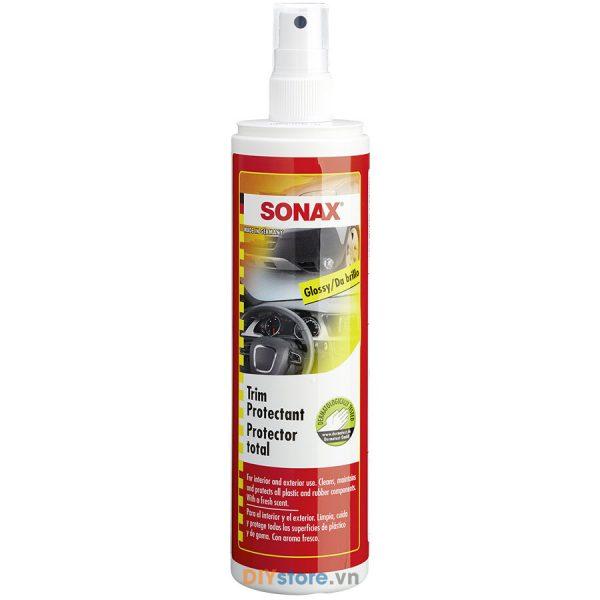 Dung dịch làm sạch và bảo dưỡng nhựa, cao su SONAX Trim Protectant Glossy, 300ml (hiệu ứng bóng láng)