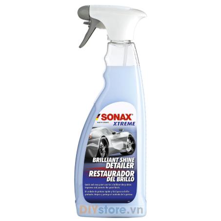 SONAX XTREME Brilliant Shine Detailer - Dung dịch làm bóng nhanh và bảo vệ sơn xe (dùng khi bề mặt khô), 750ml