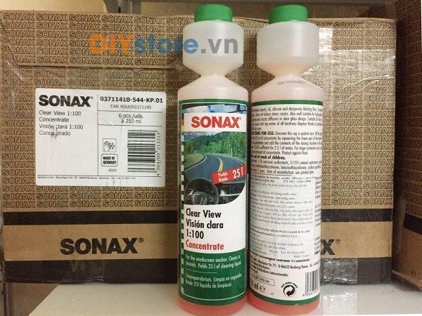 Nước rửa kính SONAX Clear view 1:100 concentrate