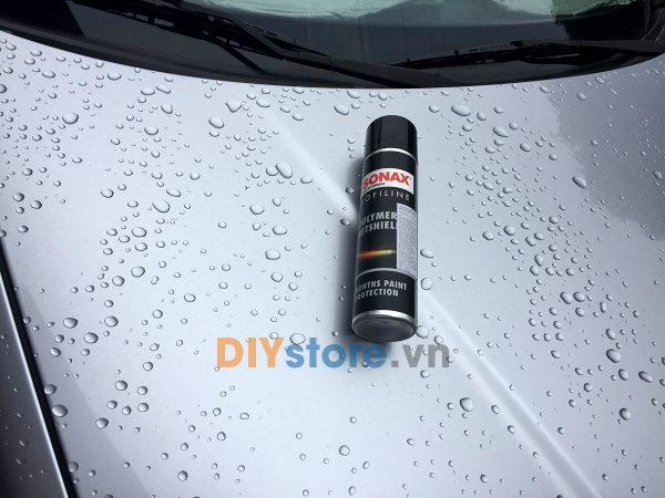 Hiệu ứng lá sen trên bề mặt sơn sau khi sử dụng SONAX PROFILINE POLYMER NETSHIELD