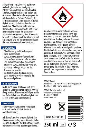Dung dịch làm sạch và bảo dưỡng da SONAX XTREME Leather care foam NanoPro, 250ml