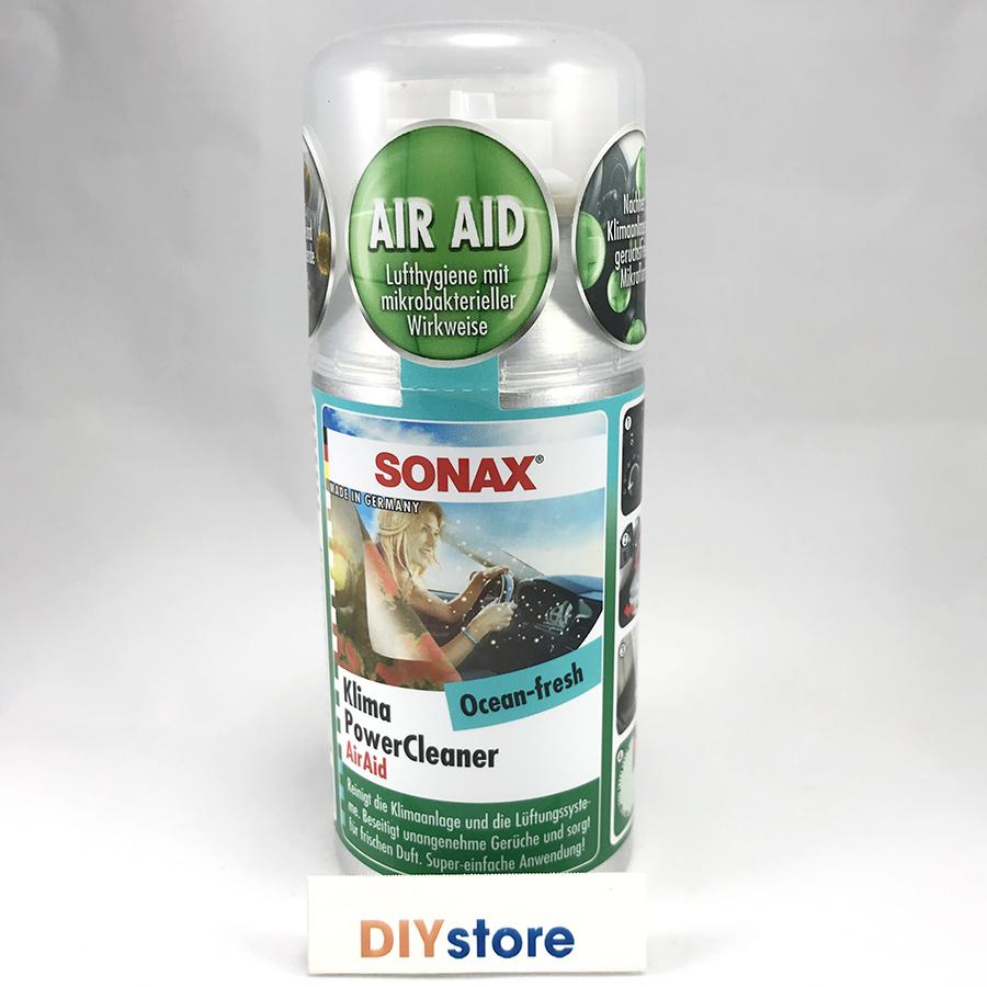 Chất khử mùi điều hòa ô tô SONAX Car A/C Cleaner Ocean Fresh (mùi đại dương), 100ml - mẫu cũ