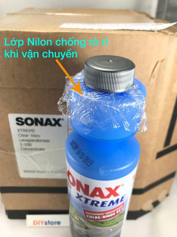 Nước rửa kính đậm đặc SONAX XTREME Clear view tỷ lệ pha loãng 1:100 , 250ml