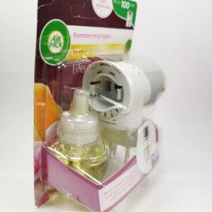 Combo ổ cắm tinh dầu Air Wick + chai tinh dầu AirWick hương mùa hè, 19ml